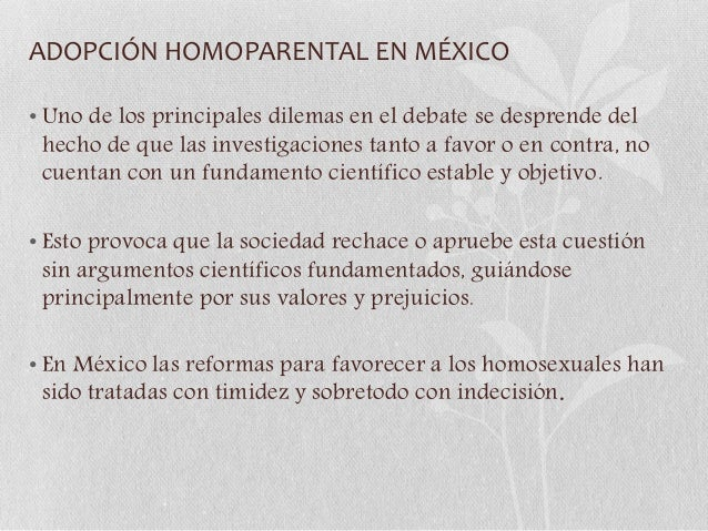 Adopcion homosexual en mexico ley