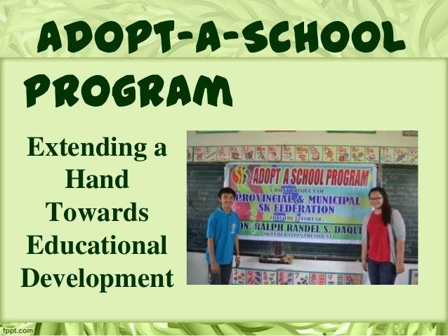 Adopt-a-School Program Extending a Hand Towards Educational Development