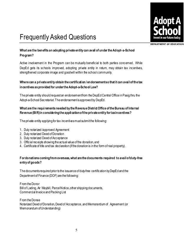 Adopt-a-School Program Kit