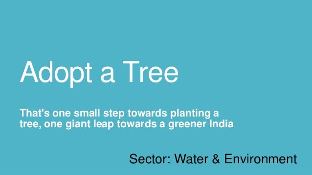 Adopt a TreeThats one small step towards planting atree, one giant leap towards a greener India                      Secto...