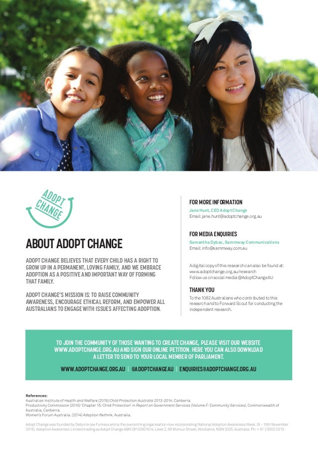 Modern families attitudes and perceptions to adoption in australia 8 aboutadoptchange adopt change believes that every child ccuart Choice Image
