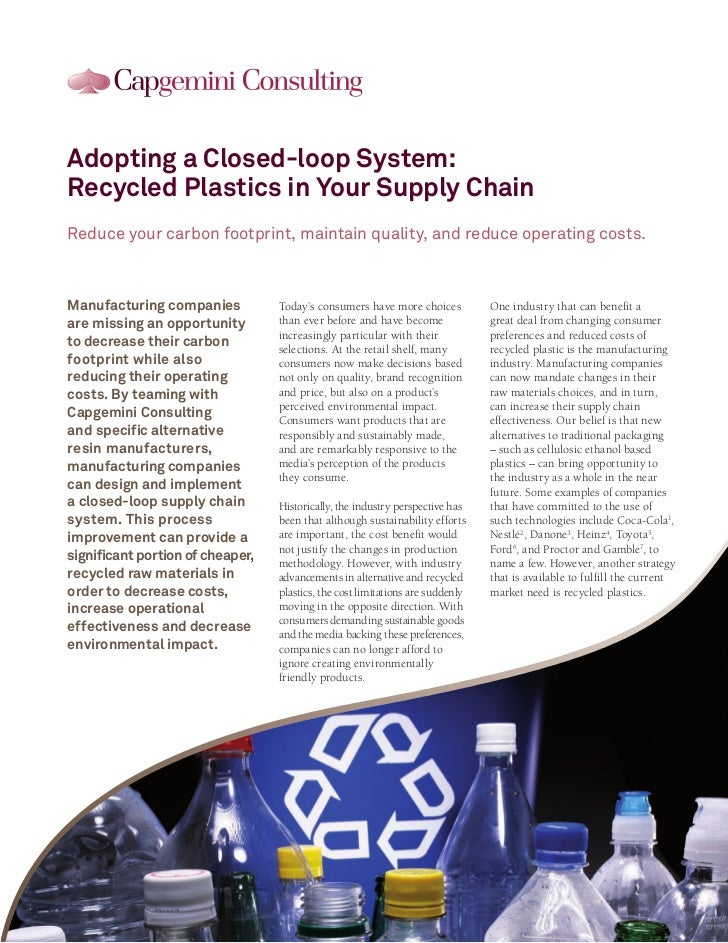 Adopting a Closed-loop System:Recycled Plastics in Your Supply ChainReduce your carbon footprint, maintain quality, and re...