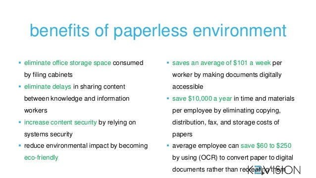 Paperless environment benefits