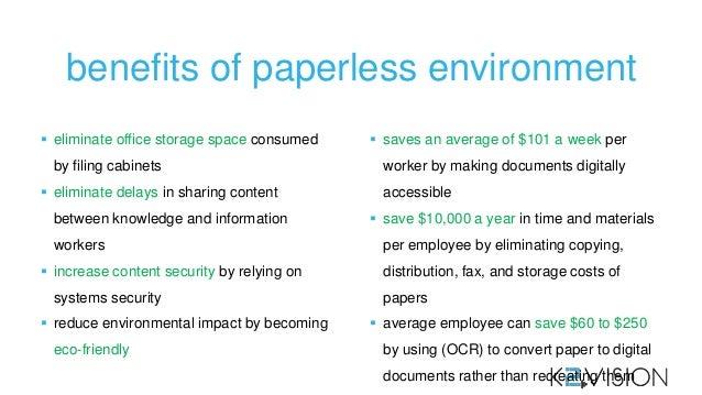 Paperless environment benefits