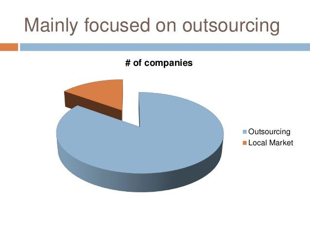 Mainly focused on outsourcing # of companies Outsourcing Local Market