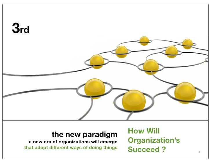 3rd              the new paradigm                How Will    a new era of organizations will emerge    Organization's  tha...