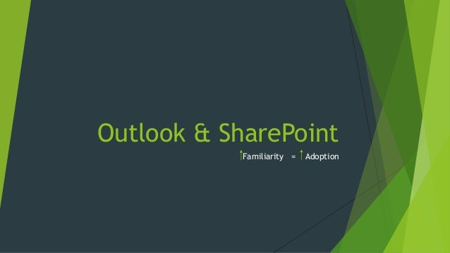 Outlook & SharePoint Familiarity = Adoption