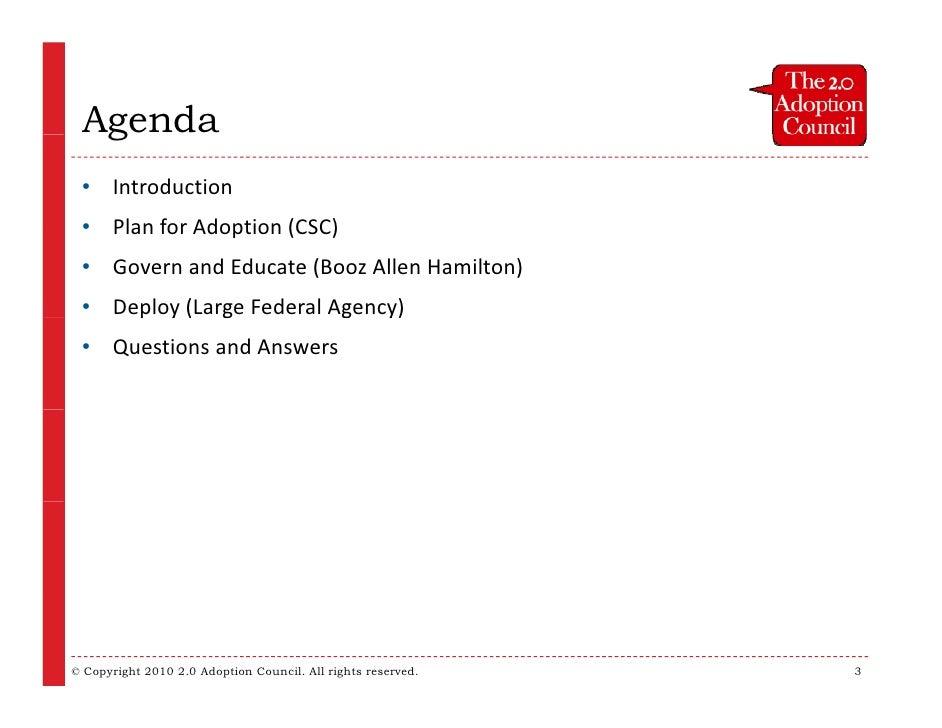 2.0 Adoption in the Enterprise - The After Slide 3