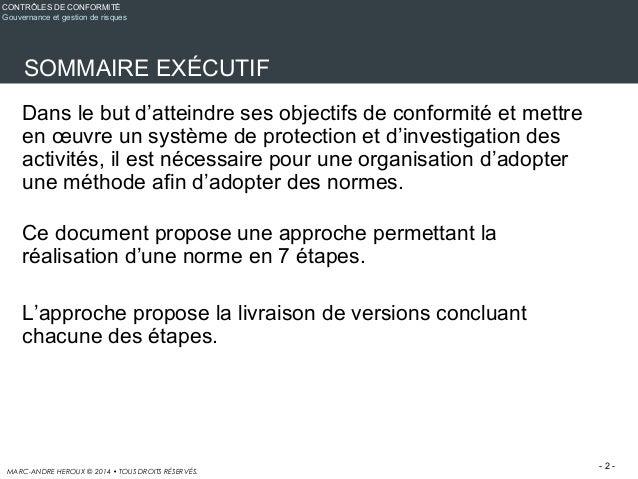 Méthodologie - adoption d'une norme en 7 étapes Slide 2