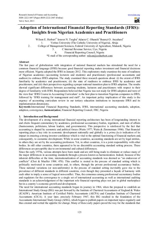 Research Journal of Finance and Accounting www.iiste.orgISSN 2222-1697 (Paper) ISSN 2222-2847 (Online)Vol.4, No.6, 2013121...