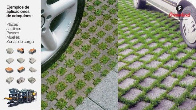 Fabricaci n de adoquines de concreto for Decoracion de jardin con adoquin