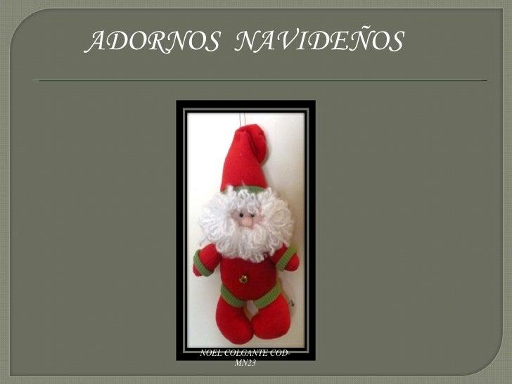 ADORNOS  NAVIDEÑOS NOEL COLGANTE COD-MN23