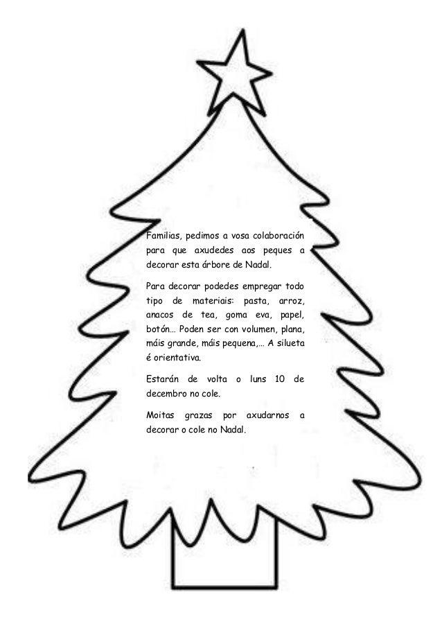 Familias, pedimos a vosa colaboraciónpara que axudedes aos peques adecorar esta árbore de Nadal.Para decorar podedes empre...