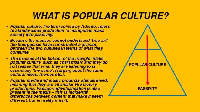 Pop Culture: An Overview