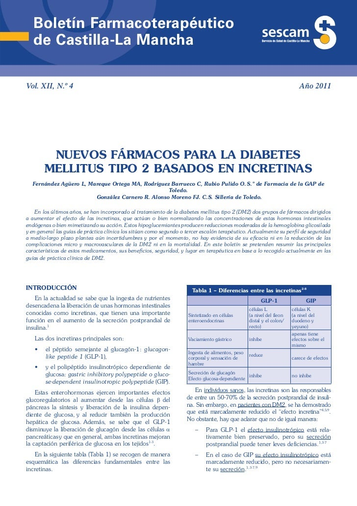 Boletín Farmacoterapéutico   de Castilla-La ManchaVol. XII, N.º 4                                                         ...