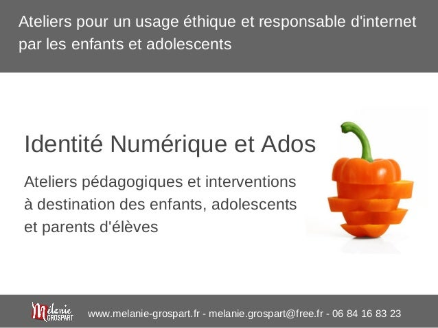 www.melanie-grospart.fr - melanie.grospart@free.fr - 06 84 16 83 23 Ateliers pédagogiques et interventions à destination d...