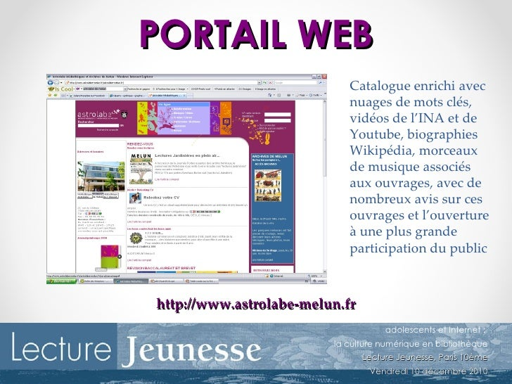 ateliers pour adolescents sur internet   exemple de l