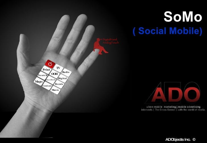 SoMo   ( Social Mobile)   Matthew Snyder CEO & Founder   ADO bjects  Inc TV Radio Print OOH Digital Events Classifieds Sea...