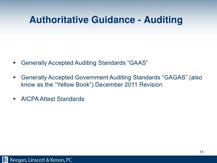 generally accepted auditing standards Gaas (generally accepted auditing standards) is a set of guidelines for auditors that are meant to help them in the audit of companies in such a way that these audits are accurate, are consistent, and are verifiable.