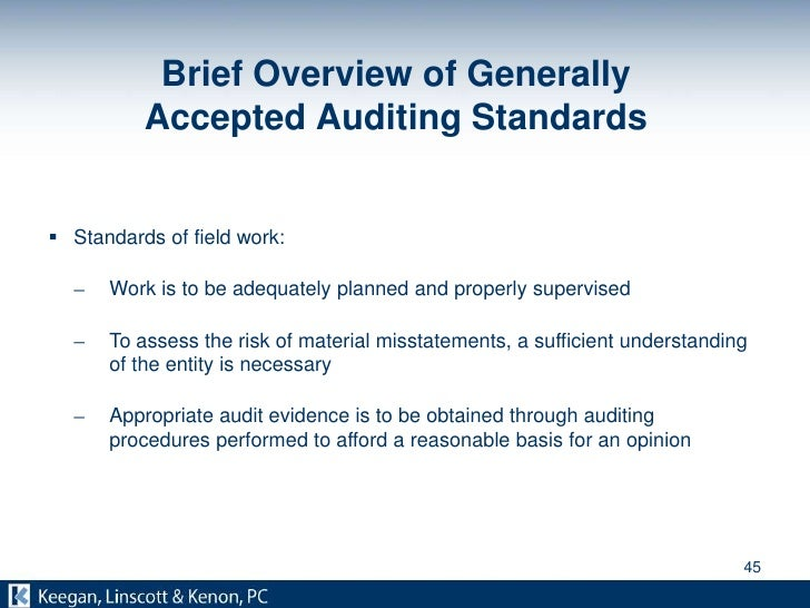 generally accepted auditing principles
