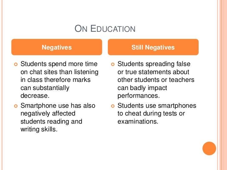 effect of smartphones essay
