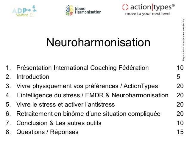 Reproductioninterditesansautorisation Neuroharmonisation 1. Présentation International Coaching Fédération 10 2. Introduct...