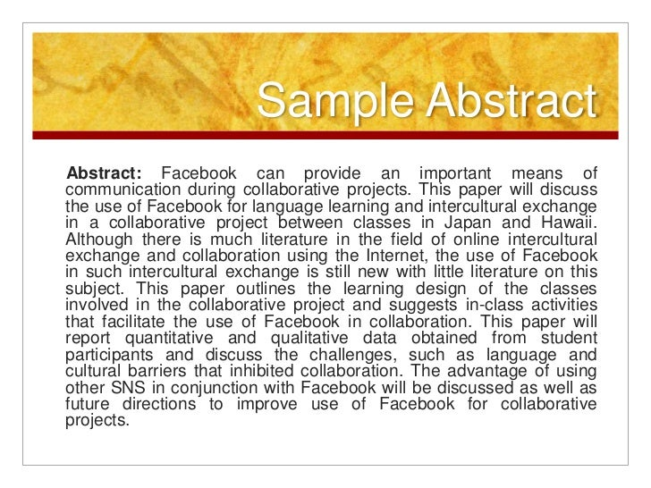 How to write abstract for paper presentation