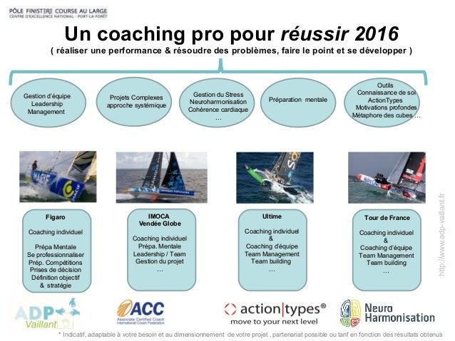 http://www.adp-vaillant.fr Un coaching pro pour réussir 2016 ( réaliser une performance & résoudre des problèmes, faire le...