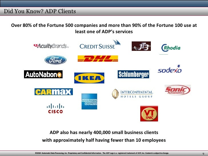 a profile overview of the adp automatic data processing inc 2018-8-21 the investor relations website contains information about automatic data processing, inc's business for stockholders, potential investors, and financial analysts.