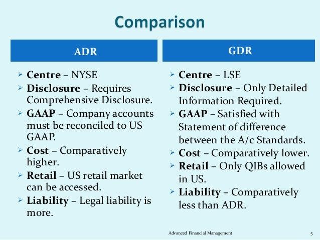 ADR                                              GDR   Centre – NYSE                     Centre – LSE   Disclosure – Re...