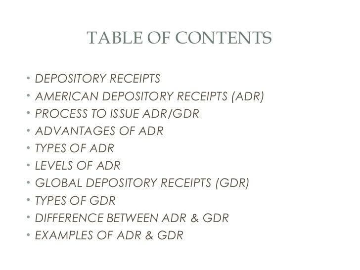 ADR and GDR Slide 2