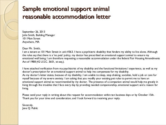esa animal prescription letter sample - photo #3