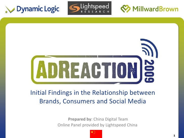 Initial Findings in the Relationship between                      Title of Presentation     Brands, Consumers and Social M...