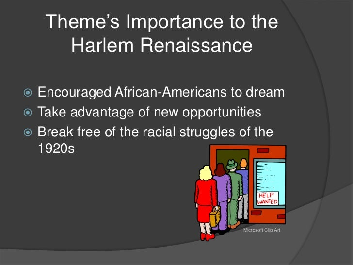 the significance of the harlem renaissance in evolution of art in african americans Why was the harlem renaissance significant a staple in the nightlife of harlem african americans no longer of african american culture, art.