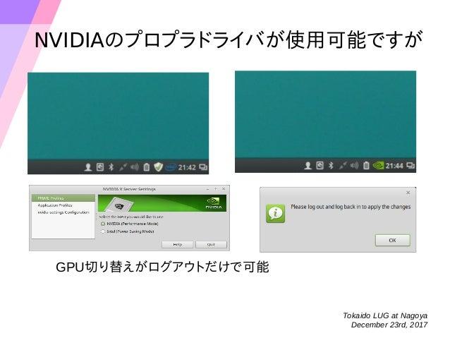 GPUの設定は Intelの内蔵のときのみうまくいく