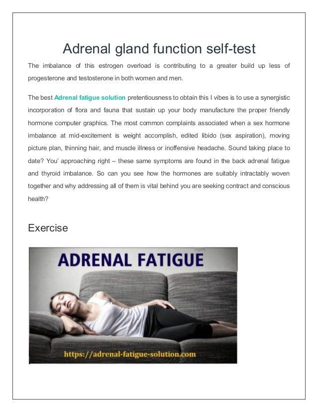 Adrenal Gland Function Self Test