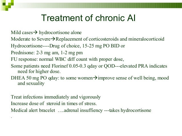 adrenal insufficiency treatment