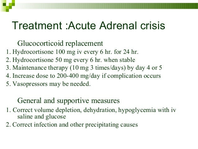 adrenal crisis treatment