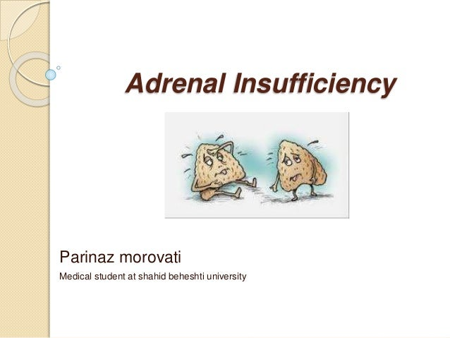 Adrenal Insufficiency Parinaz morovati Medical student at shahid beheshti university