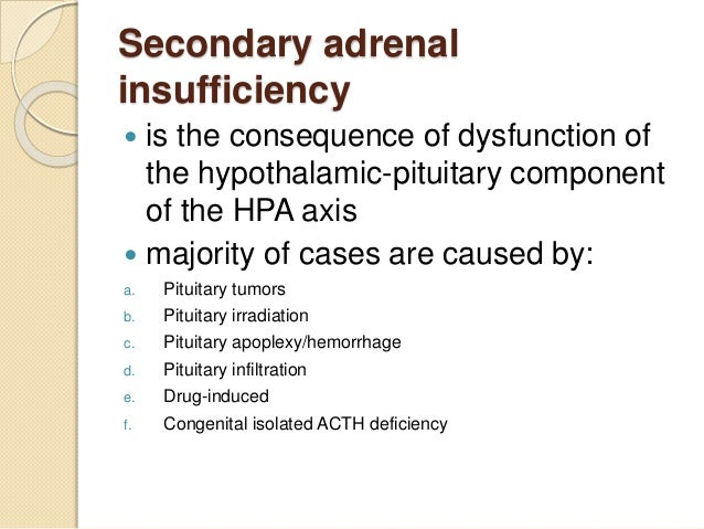 secondary adrenal insufficiency treatment