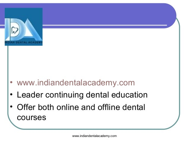 Adrenal Insufficiency Dental Courses