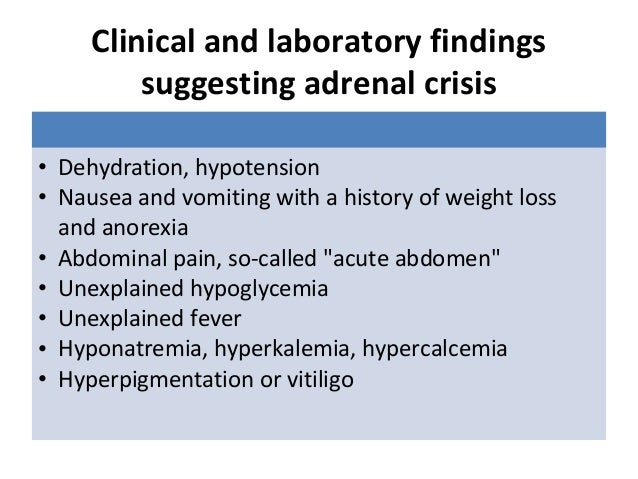 adrenal crisis after steroid withdrawal