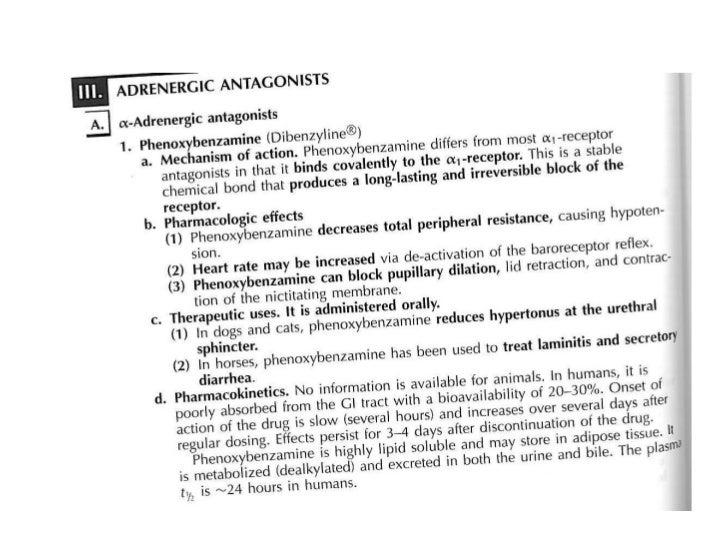 Adrenergic antagonists
