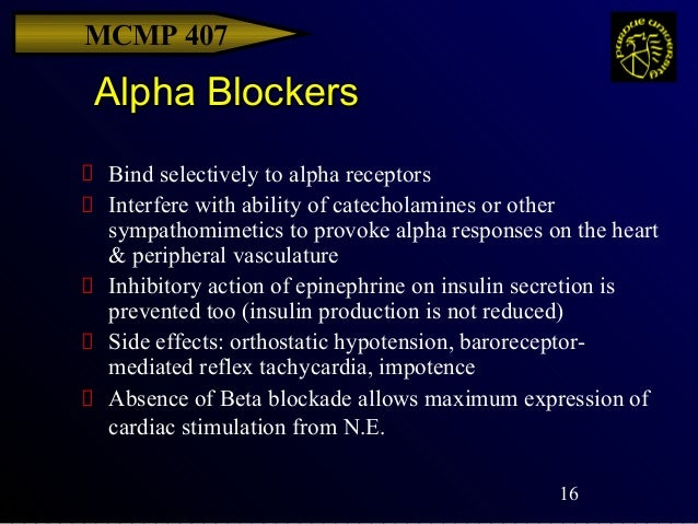 Alpha receptor antagonist and sexual dysfunction