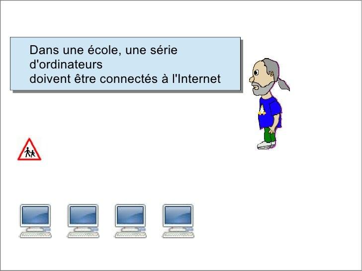 Dans une école, une sérieDans une école, une sériedordinateursdordinateursdoivent être connectés à lInternetdoivent être c...