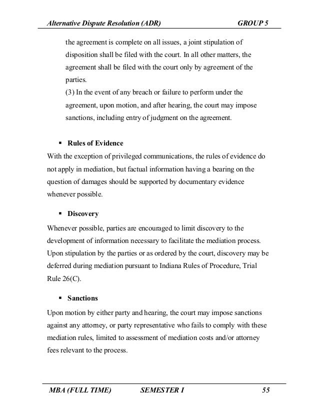 examples of alternative dispute resolution cases