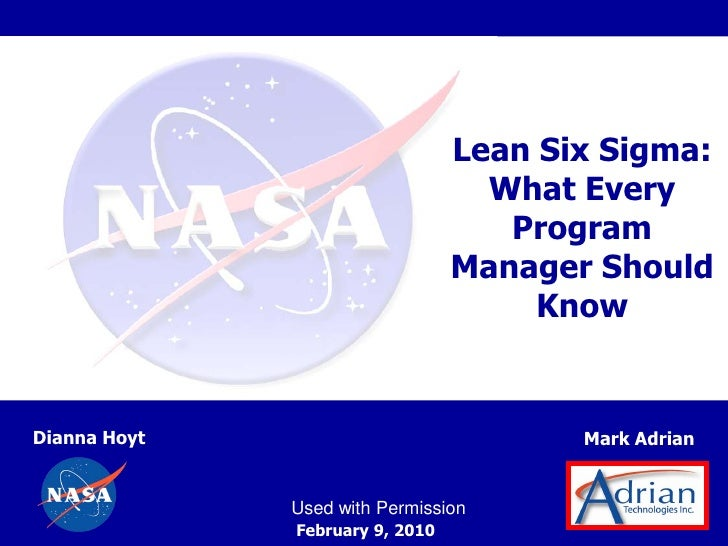 Lean Six Sigma:                                   What Every                                    Program                   ...