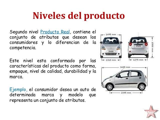 Niveles del productoSegundo nivel Producto Real, contiene elconjunto de atributos que desean losconsumidores y lo diferenc...