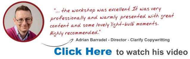Adrian Email marketing Workshop Testimonial