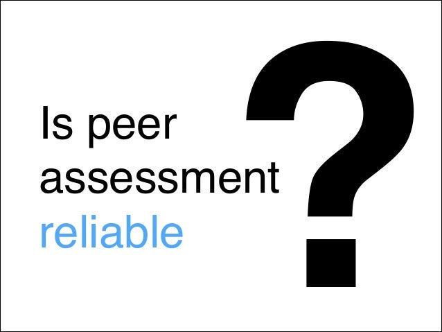 Peer assessment in a Social Media course